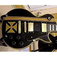 Iron Cross + Stripes JHSticker Vinyl Body Guitar & Bass Stickers Vinyl Carbon Fibre Guitar gold