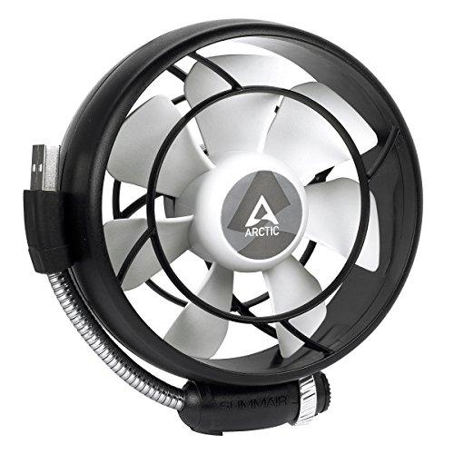 ARCTIC Summair Light - Mobiler USB Ventilator für den Schreibtisch I Tischventilator / Standventilator   geräuscharmes Betriebsgeräusch - Schwarz