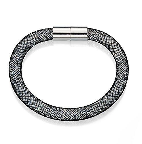 Fiorelli Costume Damen Crystal Mesh Armband mit Magnetverschluss Länge 19cm (Crystal Wire Armreif)