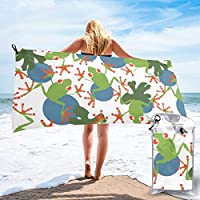 "Pads bag Quick Drying Beach Towel Tree Frogs Oversized Extra Large Big Outdoor Travel Pool Beach Towel 27.5""x55""And 31.5""x63"""