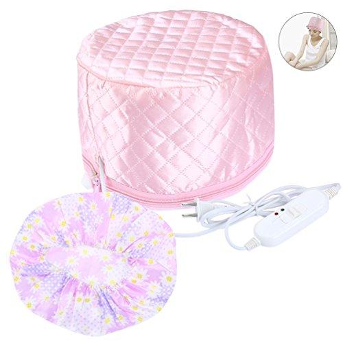 Pretty See Multifunktionale Haar Steamer Cap Praktische Beauty Steamer Nährende Hat Durable Haar Wärmebehandlungskappe mit 2 Modus Temperaturregelung, Geeignet für Haar Styling und Haar-Wärmebehandlung, Pink (Cap-haar-dampfer)