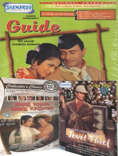Preisvergleich Produktbild Dev Anand Set of 3 DVD Collection (Jewel Thief / Hare Rama Hare Krishna / Guide)