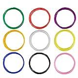 ohCome 1.75mm PLA Filamento Filament Stampante 3D per Disegno Penna 3D printig, 9color 10M 30g / PCS - Nero, Bianco, Rosso, Arancione, Blu, Verde, Rosa, Giallo, Viola Colore