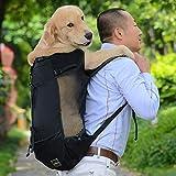 ZZQ Atmungsaktive Hundetragetasche für große Hunde Golden Retriever Bulldog Rucksack Verstellbare...