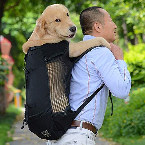 ZZQ Borsa da Trasporto Traspirante per Cani di Grossa Taglia Cani Golden Retriever Borsa da Viaggio Regolabile per Cani di Taglia Grande Prodotti per Animali Domestici