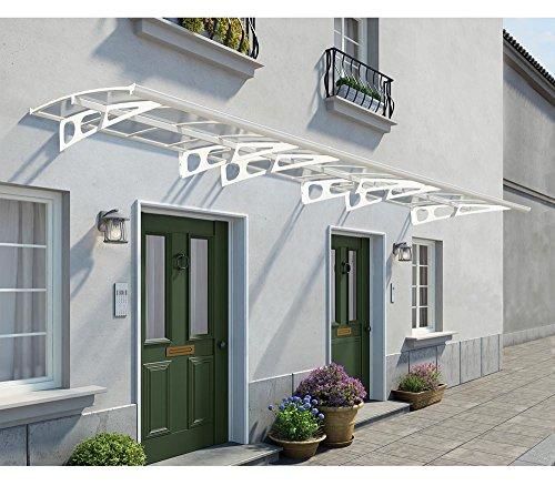 Palram Vordach, Regenschutz, Überdachung Bordeaux 6690inkl. Regenrinne // 670x139 cm (BxT) // Pultvordach und Türüberdachung