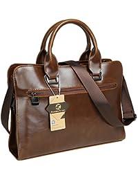 Koolertron sac bandoulière sac à main vintage en cuir synthétique Homme pour ordinateur portable 13pouce