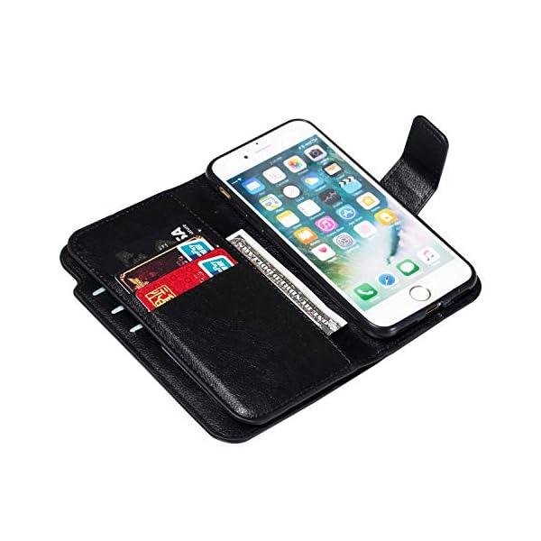 ac92edbe1f4 DENDICO Cover iPhone 7 / iPhone 8, Custodia Pelle Portafoglio per ...