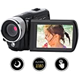 Videokamera Camcorder Digitalkamera Video Recorder Full HD 1080p Nachtsicht 24.0MP Mit 16x Digital Zoom 3 Zoll 270 ° Rotation Touch Screen