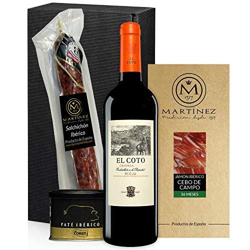 Geschenkkorb- Präsentkorb Spanien Tapas Ibéricas, Iberische produkte, rotwein Coto Crianza Rioja