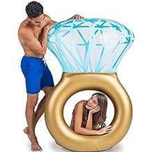 Inflable Gigante de Flotador, Balsa flotante de la piscina del anillo de diamante Anillo de