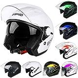 Best Crash Helmets - Leopard LEO-608 DOUBLE SUN VISOR Open Face Helmet Review