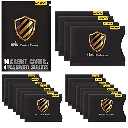 Bloqueo RFID, Kollea Tarjeteros Tarjetas Credito Pasaporte