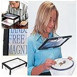 Bluelover LED A4 página grandes manos libre lupa 3 X lupa lectura y cable