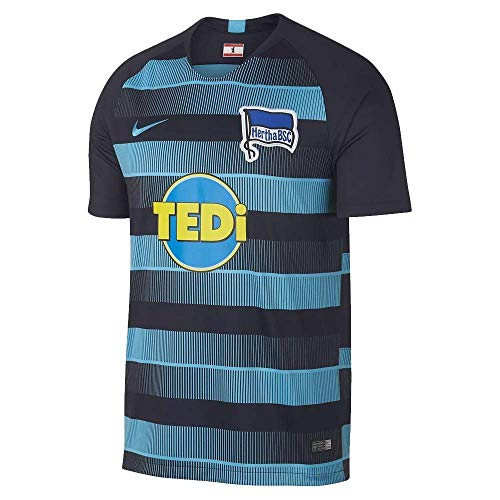 Nike Herren Hertha BSC Breathe Stadium Away T-Shirt Dark Obsidian/Chlorine Blue, S
