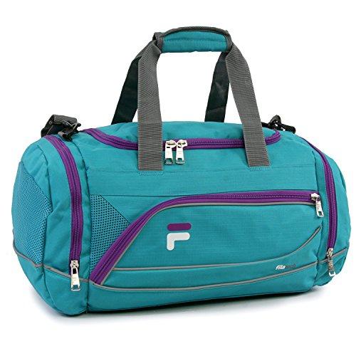 Fila Sprinter Small Gym Sport Duffel Bag,  Teal/Purple