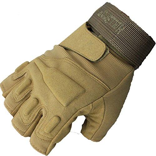 NACOLA Half Finger Radfahren Handschuhe, Erwachsene Sommer Reiten Handschuhe mit Handgelenkbandage, Motorrad Handschuhe rutschfeste Handschuhe L color 3
