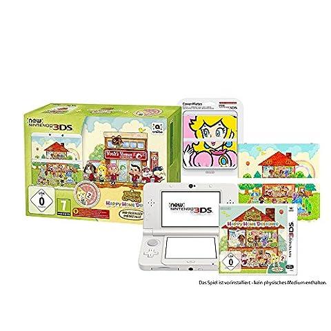 New Nintendo 3DS Animal Crossing HHD Bundle inkl. Peach Zierblende (1 weißer N3DS, 1 Spiel, 2 Zierblenden)
