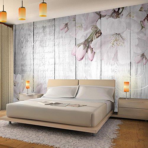 Fototapete Blumen Grau Vlies Wand Tapete Wohnzimmer Schlafzimmer ...