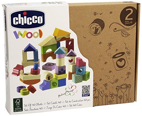 Chicco - 00005166000000 - Jeu De Construction En Bois - 40 Pièces