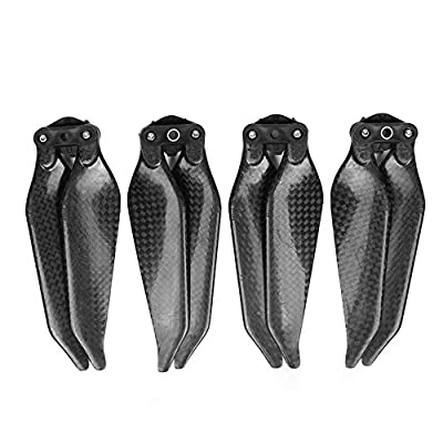 O'woda 2 Pairs Foldable Carbon Fiber Propellers Noise Reduction Quick Release CW & CCW Props for DJI Mavic Pro / Mavic Pro Platinum (2 Pairs Carbon Propellers) from O'woda