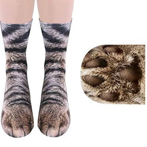 Hotaden Unisex Lustige Socken 3D-Tierdruck-Katzen-Tatzen-Muster Trifft Neuheit Stretchy Kostüm Socken Für Kinder