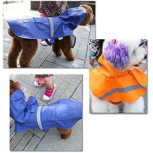 ABBY imperméable pour animaux de compagnie Chiens gros chien Vêtements imperméable Reflective