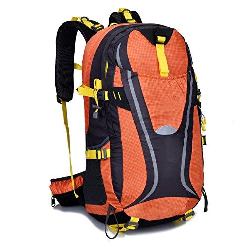 Multicolor Bergsteigen Tasche Outdoor Camping Wanderrucksack 45L Orange