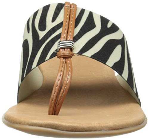 Andre Assous Nice Toile Tongs Zebra