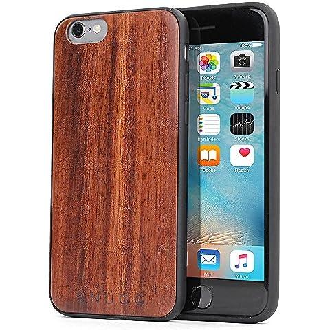 Funda iPhone 6 / 6s, Carcasa Snugg Anti-Impactos para Apple iPhone 6 / 6s [Madera Genuina] Ultrafina Revestimiento de TPU - Palo de Rosa