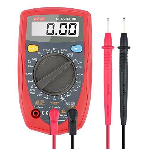 Etekcity MSR-R500 Pocket Digital Multimeter, Volt Amp Ohm Multi Tester with Diode and Continuity Test,AC/DC Voltage, DC Current, Resistance Tester,Red