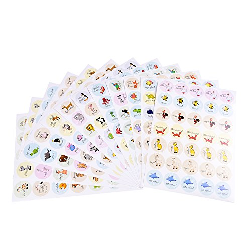 420 x Belohnungsaufkleber, Motivationsaufkleber, Sticker, Organisationshilfe für Lehrer, Schüler, Eltern, Kinder im Unterricht und zu Hause