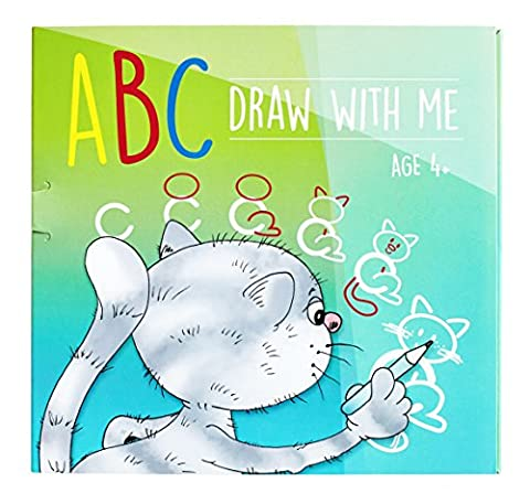 ABC Draw With Me | Wipe Clean Alphabet Flash Cards | Arts and Crafts for Kids