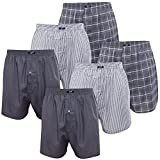 MT 6er Pack Herren Webboxer Anthrazit-XL