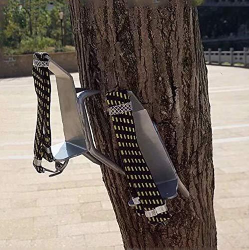 ZLQF Baumkletter-Artefakt Edelstahl Rutschfeste Vier Krallen Tree Climbing Spikes,Baumsteigeisen Kletterhilfen Forstzubehör,A