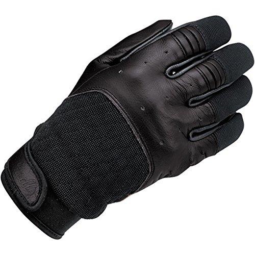 Handschuhe Gloves Leder Bantam Total Black Biltwell Herren Motorrad Biker Custom S schwarz