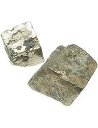 Perles cubes épais en pyrite Tailles assorties (par 12)