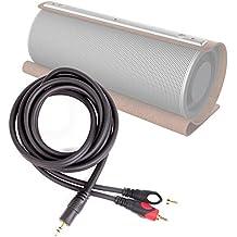 DURAGADGET Excelente Cable De Audio Minijack / RCA Para Altavoz Portátil Sumvision Psyc Monic , Psycsolo / Tannc TCUS063 / TaoTronics TT-SK09 / TECEVO A20 / TecTecTec Olisten 2