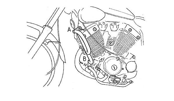 Chrom f/ür Yamaha XV 535 Virago Hepco/&Becker Motorschutzb/ügel
