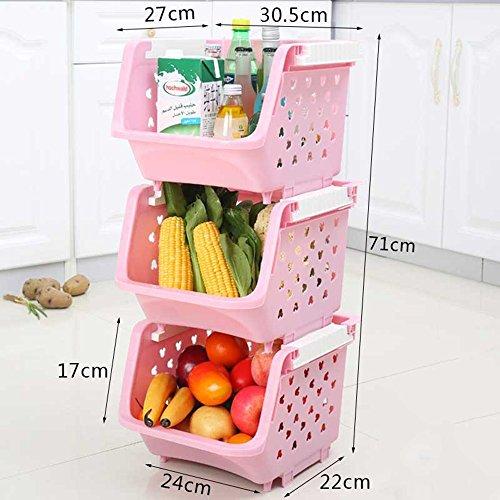 Frutta di plastica E Cestino di verdure Detriti bagagli Basket 3 scatole di memorizzazione contenente Frutta E Verdura ( colore : 3 )
