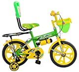 #7: Loop Cycles SKOOLMATE Parrot Green Yellow 14 Inches Bicycle For 3 to 5 Years Kids Unisex With Bottle