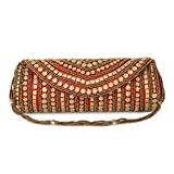 #5: Funkia™ Women's ethnic, designer, handcrafted Silk Party Clutch - 7 colors to choose from