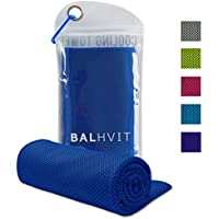 Balhvit® Toalla de Enfriamiento, Transpirable Toalla Microfibra para de Instant Relief, Toalla de Hielo para Viajes Acampada Yoga Fitness Gimnasio Ejercicio de béisbol Golf y Deportes - Azul oscuro
