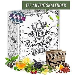 Calendario de Adviento de Té I Calendario de Navidad con 24 tés aromáticos I Juego de regalo durante la temporada de Navidad Tiempo de Adviento I Tiempo de espera para los amantes del té
