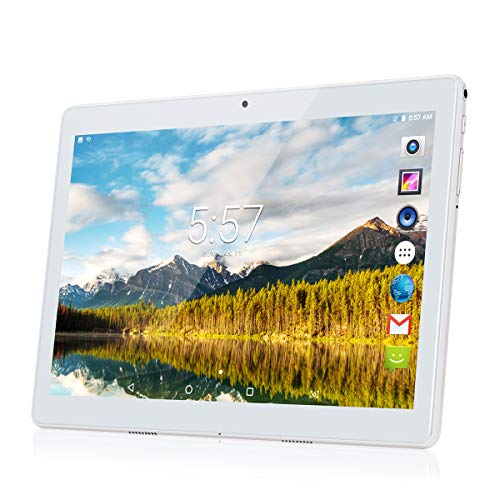 Kivors 10,1 Zoll Android Tablet PC ,Quad Core Prozessor Phablet 2G RAM 32G Speicher Dual Kamera 2MP/5MP 1280x800 IPS Touchscreen Dual-SIM Slots 3G Entsperrt Telefonfunktion WiFi Bluetooth 4,0 GPS - Entsperrt 3g Wifi Tablet