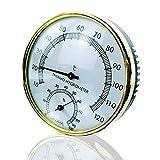 Sauna Thermometer Hygrometer, 2 in 1 Saunathermometer Thermometer Hygrometer Mini-Thermometer Wandthermometer Hygrometer Sauna Raum Zubehör für Zuhause,Büro,Gewächshaus, Zeigerthermometer Great Gift