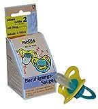 Mollis Silicon Beruhigungsauger Gr.2 mit Ring lila oder grün ohne