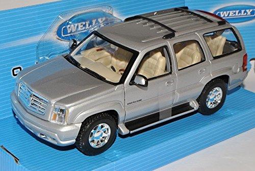 Cadillac Escalade Silber Suv GMT800 2. Generation 2001-2006 1/24 Welly Modell Auto (2001 Cadillac Ca)