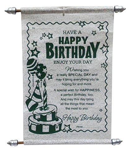 Saugat Traders Birthday Scroll Card