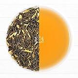 Grüner Jasmin Earl Grey Tee (50 Tassen), Köstliche Mischung eines Grünen Premium Tees, frische Jasminblüten & Starke Bergamotte Auszüge, Loose Leaf (lose Blätter) Tee (50 Tassen), Gemischt, Verpackt & direkt aus Indien versendet, 100g